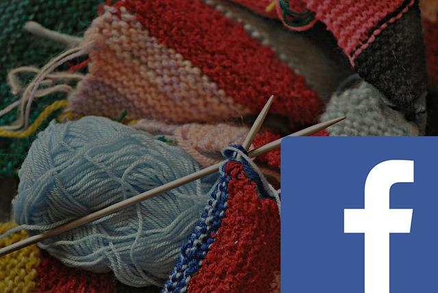 Bilde av garn og diverse strikketøy, tusenideer sin facebook-gruppe