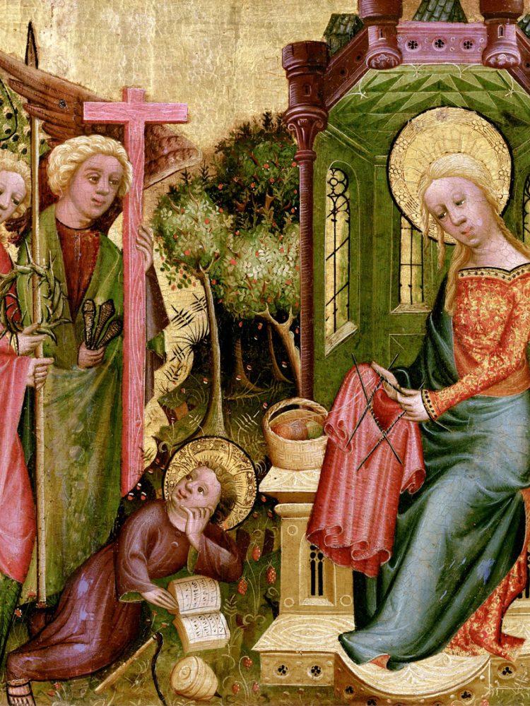 Jomfru maria som strikker