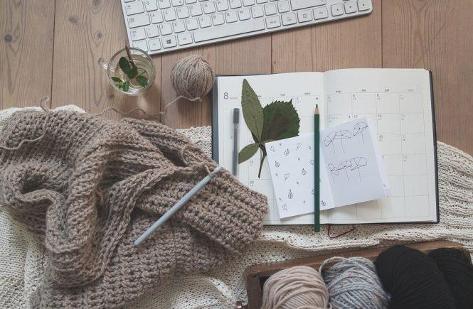 Tusenideer, strikke, enkel genser